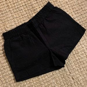 J Crew Black Embroidered Shorts 6